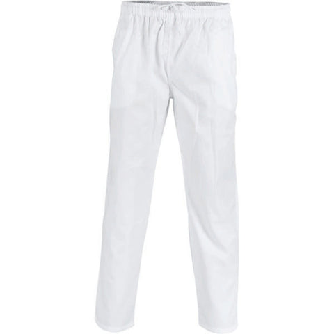 Traditional Draw String White Pants - DNC Chef