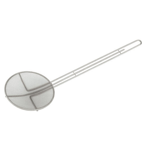 160mm Fine Mesh Skimmer - Round Chrome Plated