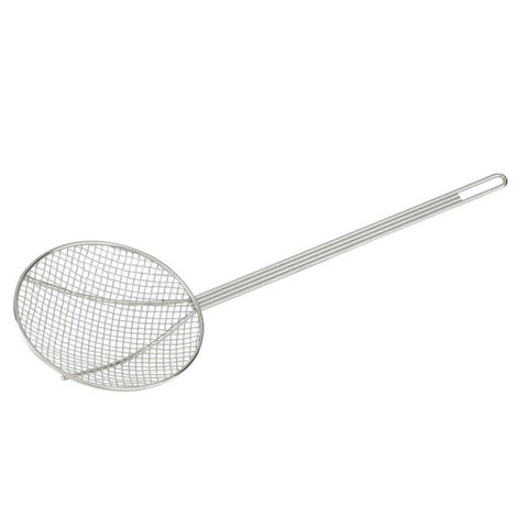 180mm Mesh Skimmer - Round Chrome Plated