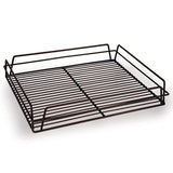 Black Rectangular Glass Basket
