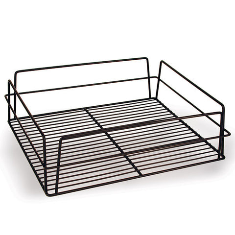 435 x 355 x 125mm Glass Basket - Rectangular High Sided