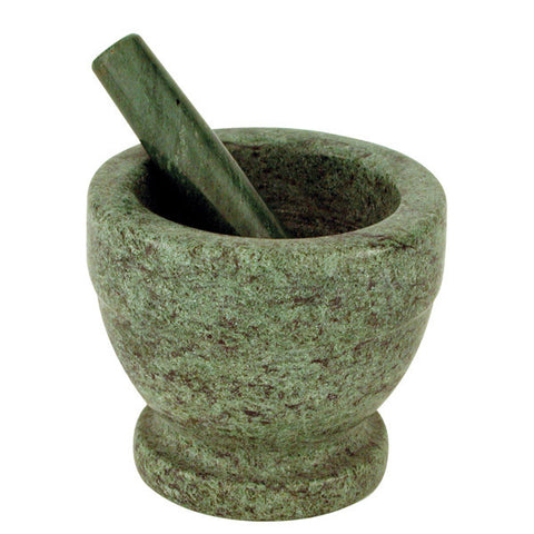 130mm Mortar & Pestle - Marble Green