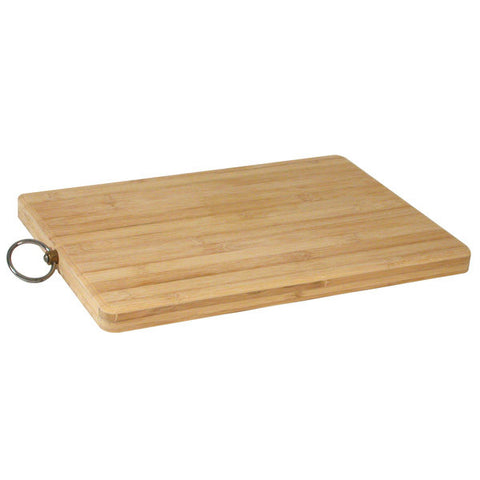 Long Grain Bamboo Chopping Bread Board - Rectangular 400 x 300mm