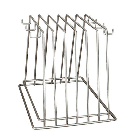 Cutting Board Rack 6 slot with Hooks