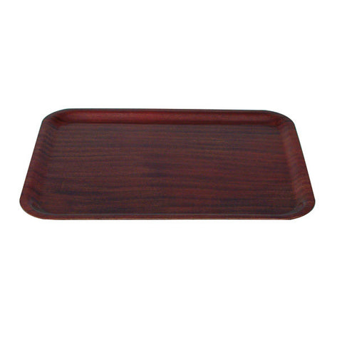 480 x 370mm Rectangular Wood Tray - Mahogany