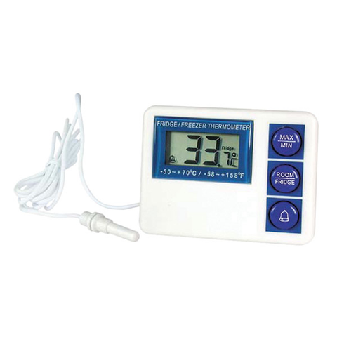 Waterproof Digital Fridge/Freezer Thermometer -50/70c
