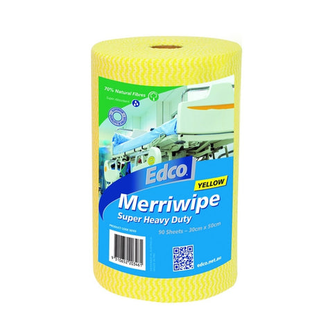 Edco Merriwipe Super Heavy Duty Wipes Roll (Yellow)