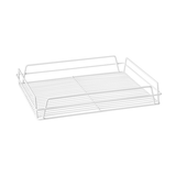 White Rectangular Glass Basket