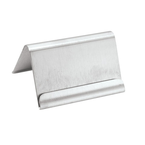 40 x 600mm Buffet Card Holder - 18/8 Stainless Steel