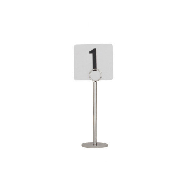 200mm Table Number Stand Ring Clip 70mm Heavy Base