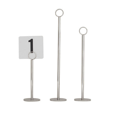 450mm Table Number Stand Ring Clip 70mm Heavy Base