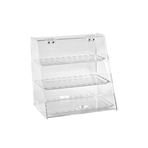 340 x 250 340mm Display Cabinet - Polycarbonate With 3 Trays
