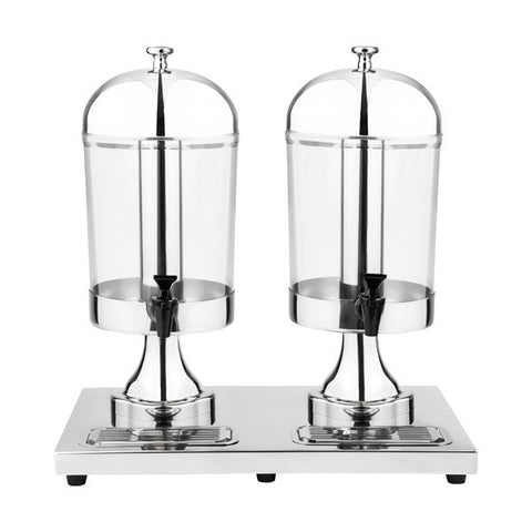 Double Juice Dispenser 18/10 Stainless Steel Acrylic Body