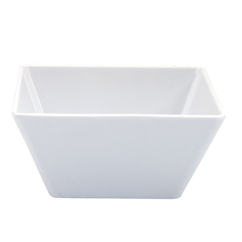 180mm Square Bowl - White Melamine