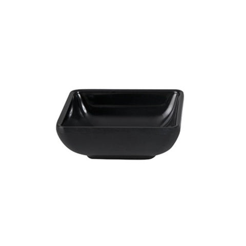70mm Square Sauce Dish - Black Melamine