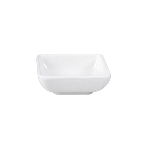 70mm Square Sauce Dish - White Melamine