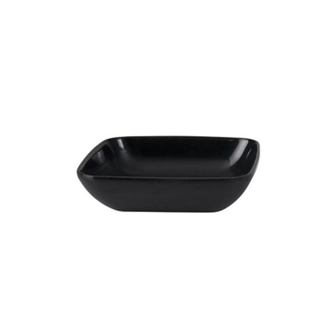 100mm Square Sauce Dish - Black Melamine