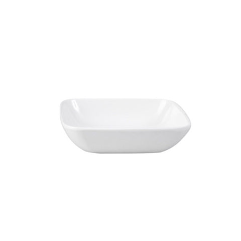 100mm Square Sauce Dish - White Melamine