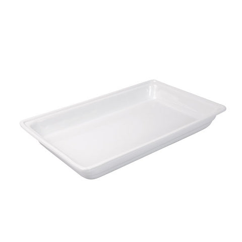 1/1 size Porcelain Food Pan 65mm Depth - White