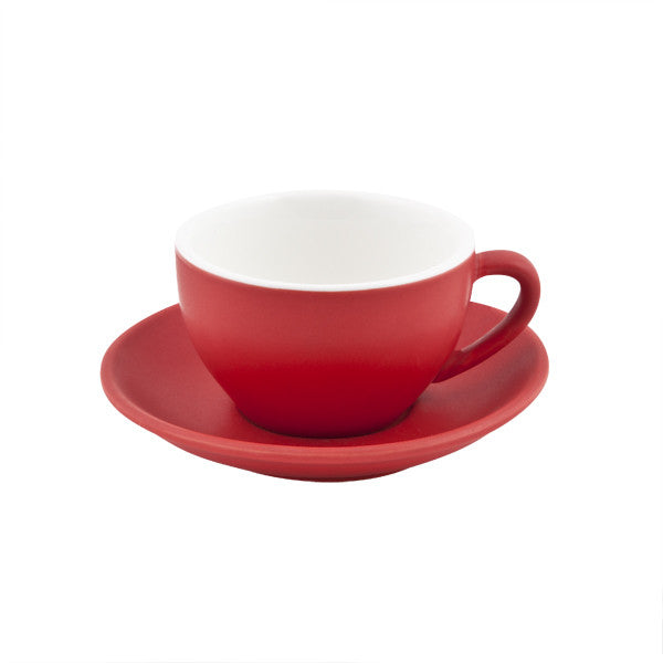 200ml Intorno Cappuccino Cup - Red