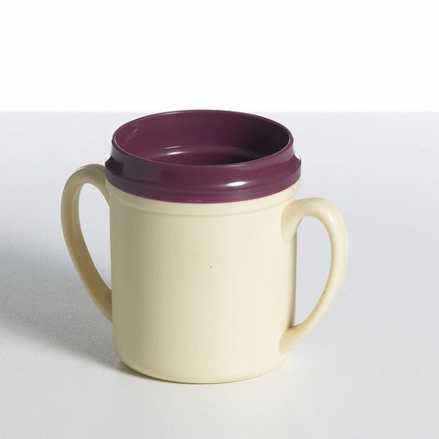 Yellow/Burgundy Double Handle Insulated Mug 250ml