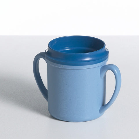 Blue Double Handle Insulated Mug 250ml