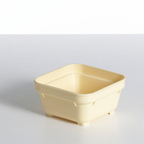 Yellow Square Bowl (PP) 100mm