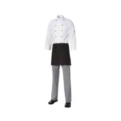 Club Chef ½ Short Apron Lightweight Cotton Black (with pocket)