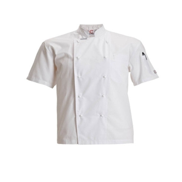 White Short Sleeve Lightweight Jacket Chefscraft