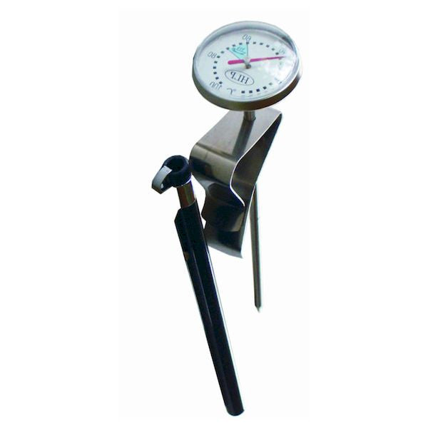 Short Coffee Thermometer for Milk Frothing or Food Heating with Cover & Clip
