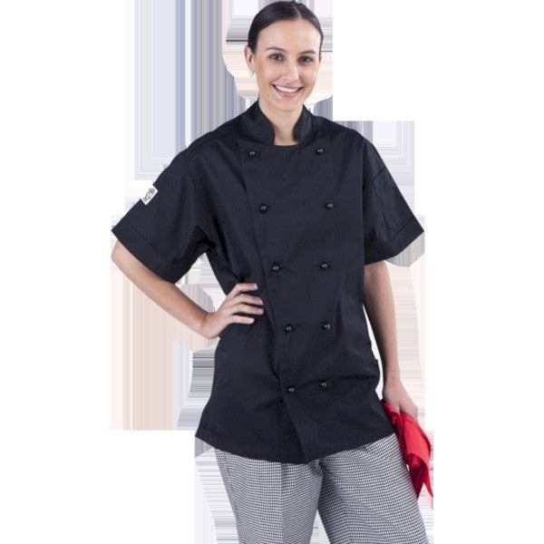 Black Short Sleeve Chef Jacket