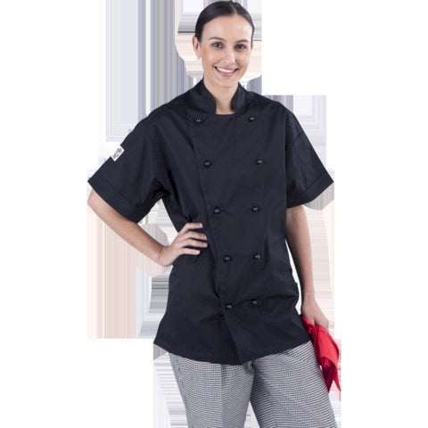 Black Short Sleeve Chef Jacket- Global Chef