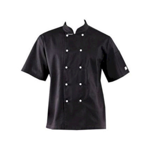 Lightweight Short Sleeve Jacket Black - DNC Chef