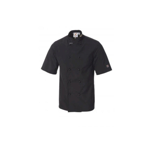 Traditional  Short Sleeves Chef Jacket in Black