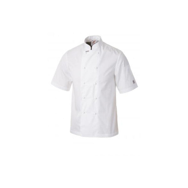 Traditional Short Sleeves Chef Jacket in White