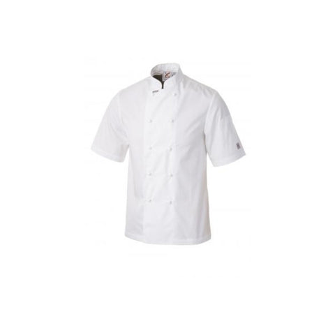 Traditional Short Sleeves Chef Jacket in White - Club Chef