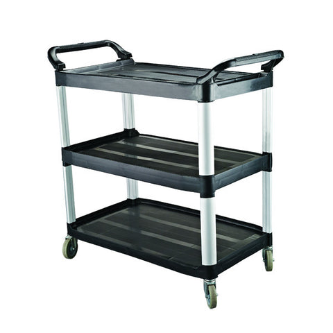 Caterrax 3 Shelf Black Plastic Utility Trolley 1020 x 500 x 960mm