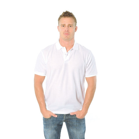 Mens Cotton Rich New York Polo White
