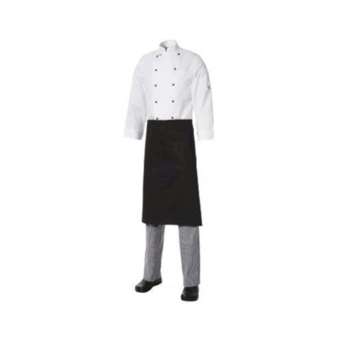 Club Chef ¾ Apron Heavyweight Cotton Black (no pocket)