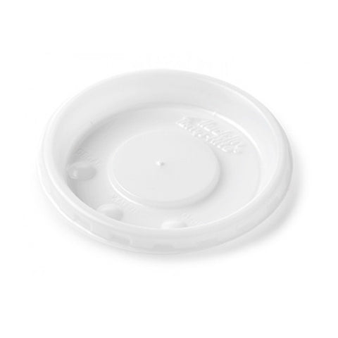 Lid Disposable Round Vented, White (2000 per case)
