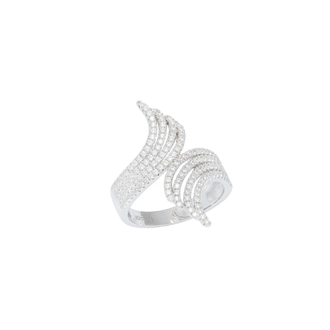 Crystal Waves Ring