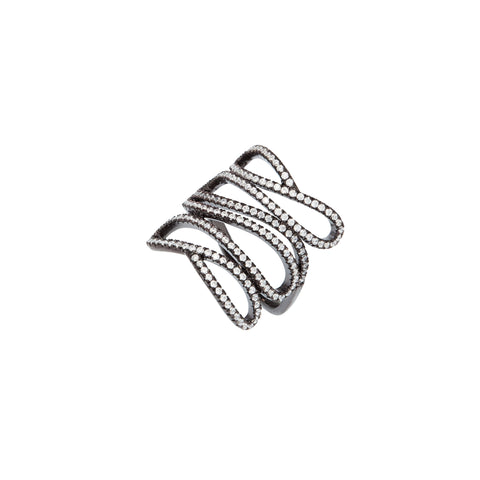 Hematite Ribbon Ring