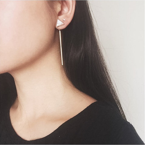 Marble Triangle Ear Jackets