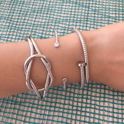 Silver Large Knot Cuff