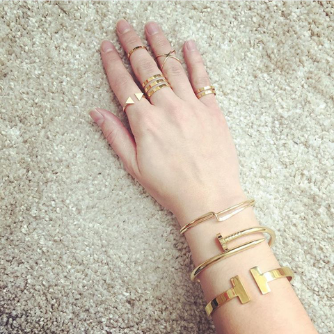 Gold Triple Stack Ring Set