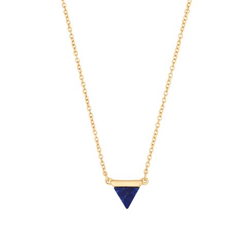 Lapis Delta Necklace