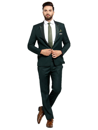 Buy mens classic green 2 piece suit in delhi