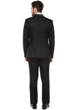 Versatile Mens Midnight Black Tuxedo Suit