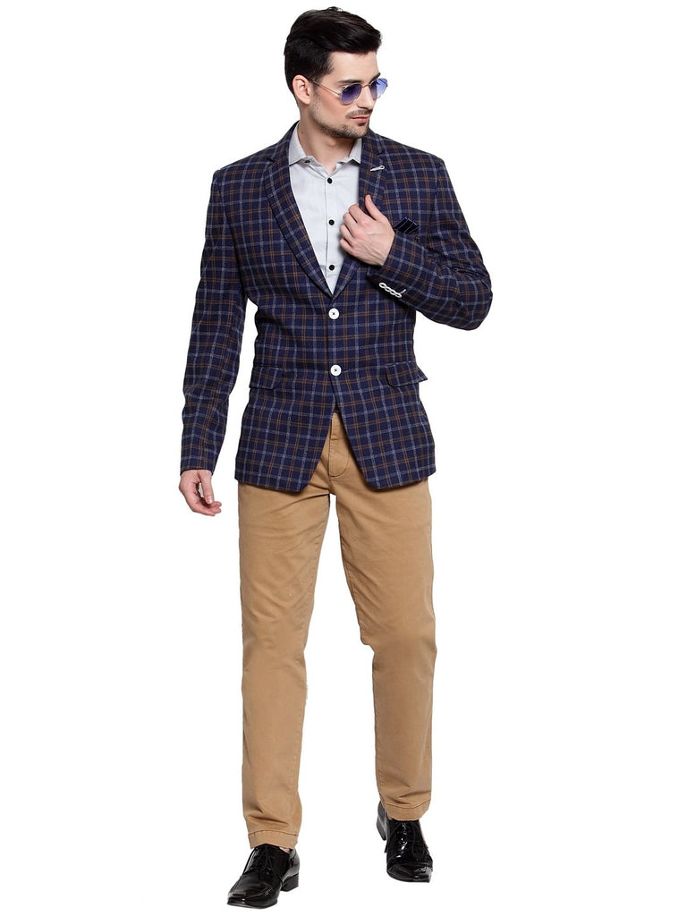 Buy the designer check pattern coat in delhi