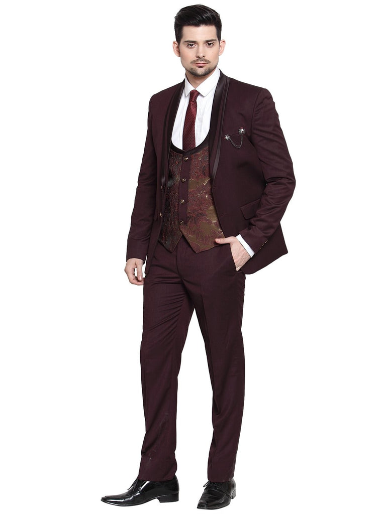 Mens luxurazi beige business 3 piece suit